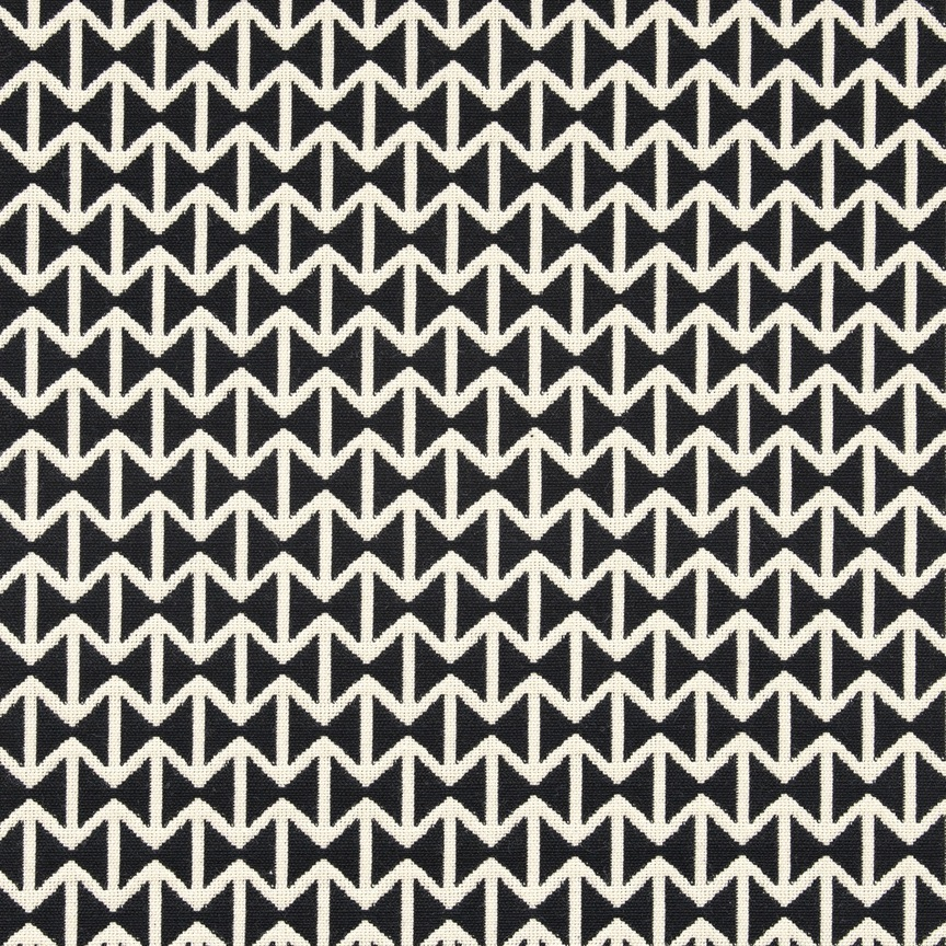 Maharam Product Textiles Double Triangles 001 Black