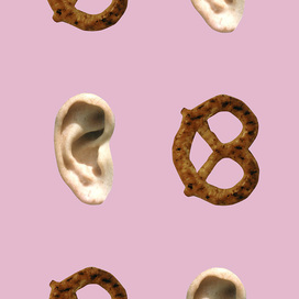 (Ear/Pretzel - Pink) by John Baldessari