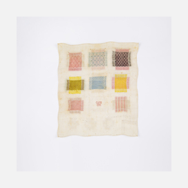 Maharam darning sampler historical reference 1751