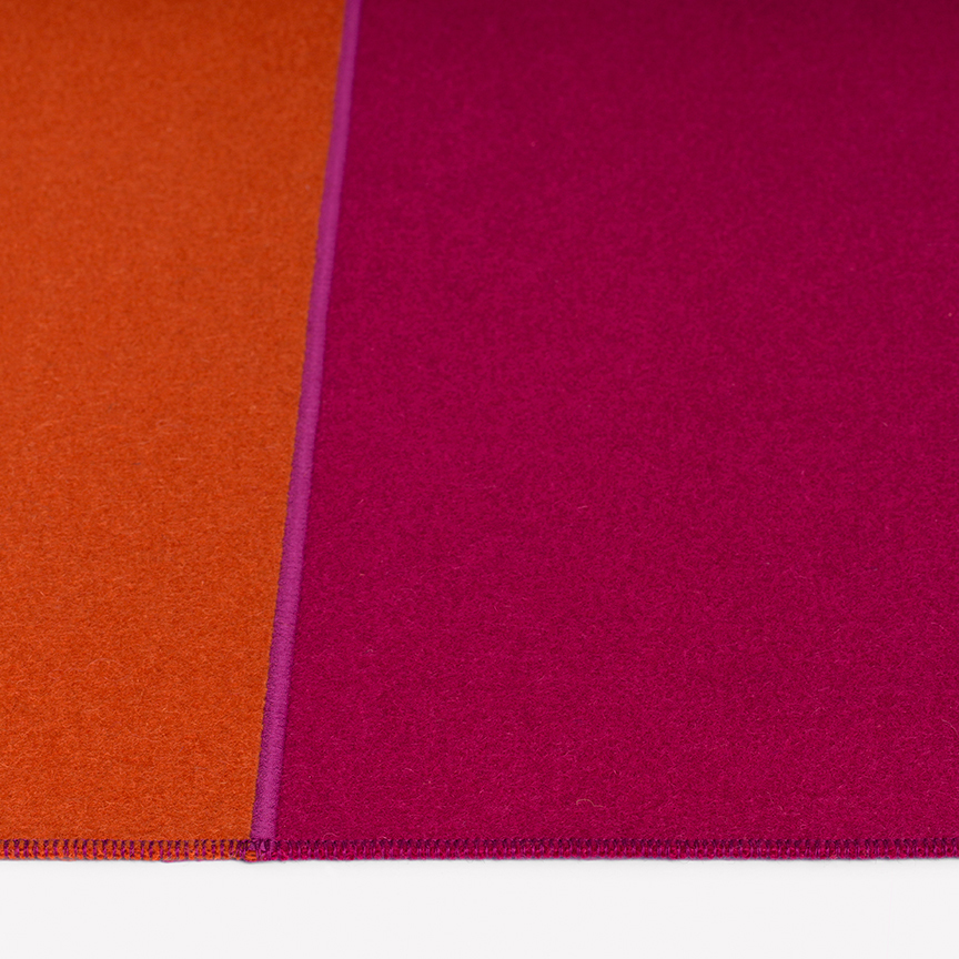 Maharam Product Rugs Feltro Due 006 Orange Azalea
