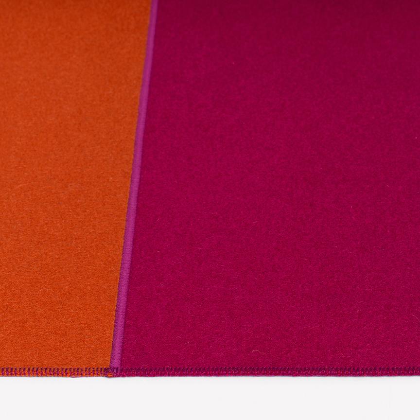 Maharam Product Rugs Feltro Due 006 Orange Azalea