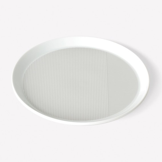 Pattern Porcelain Plate by Scholten & Baijings
