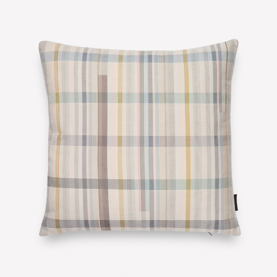 Darning Sampler Plaid Pillow by Scholten & Baijings