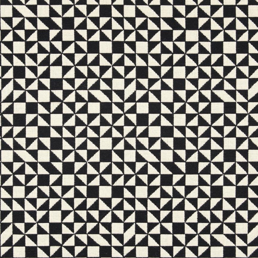 Maharam Product Textiles Checker Split 001 Black White