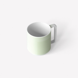 Pattern Porcelain Mug by Scholten & Baijings