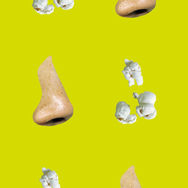 (Nose/Popcorn - Yellow/Green) by John Baldessari