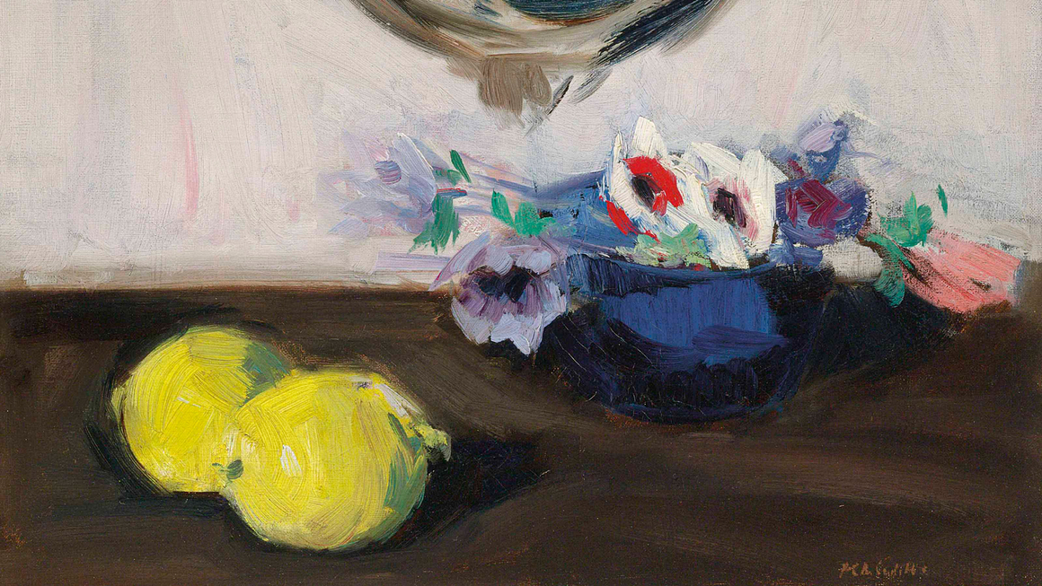 Stories paul p still life of anemones and lemons