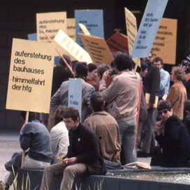 Ulm Student Protest Placards